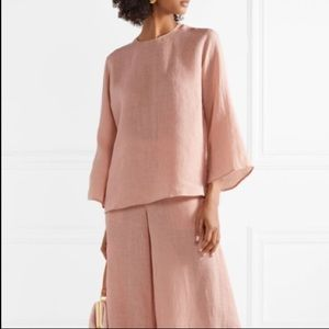 MANSUR GAVRIEL Blush pink  100% Linen top medium